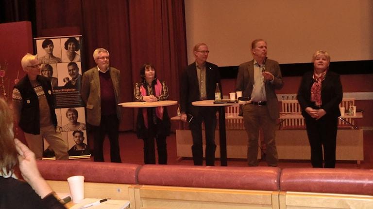 Västernorrlandin koulutuspäivä 27.11 vas.Lars-Göran Spång, Lennart Rhodin, Aina Negga, Sten-Olov Altin, Gunnar Stenberg ja Riitta Palosaari