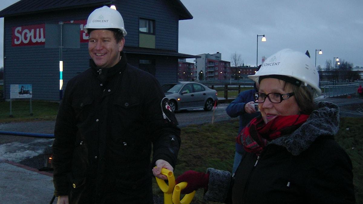 Mikael Falander Gunnel Simu Barens Center rakentaminen alkoi. Foto/kuva: Juha Tainio