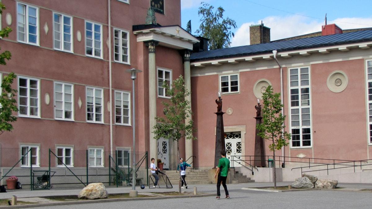 Tukholman ruotsinsuomalainen koulu. Foto: Virpi Inkeri/SR