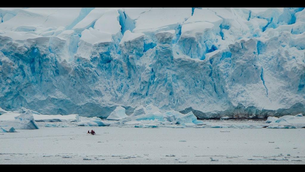 Ett istäckt landskap möter Antarktisbesökaren. Foto: Thomas Öberg.