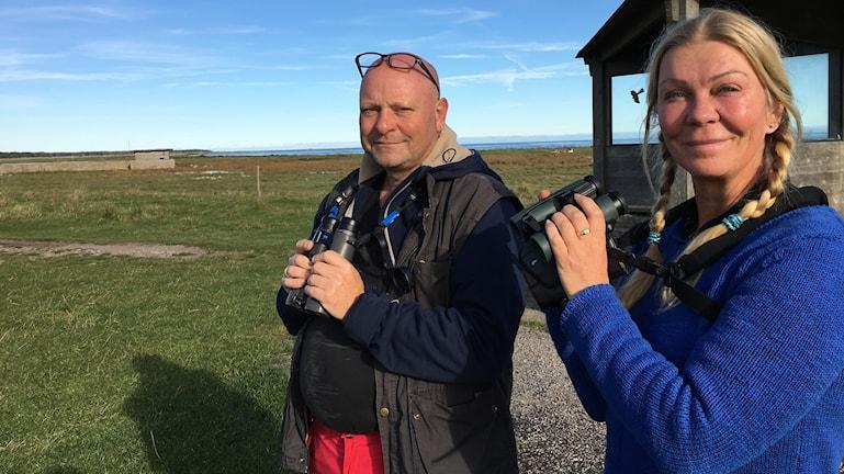 Ulf Ottosson och Gig.i Sahlstrand, fågelskådare och fågelexperter