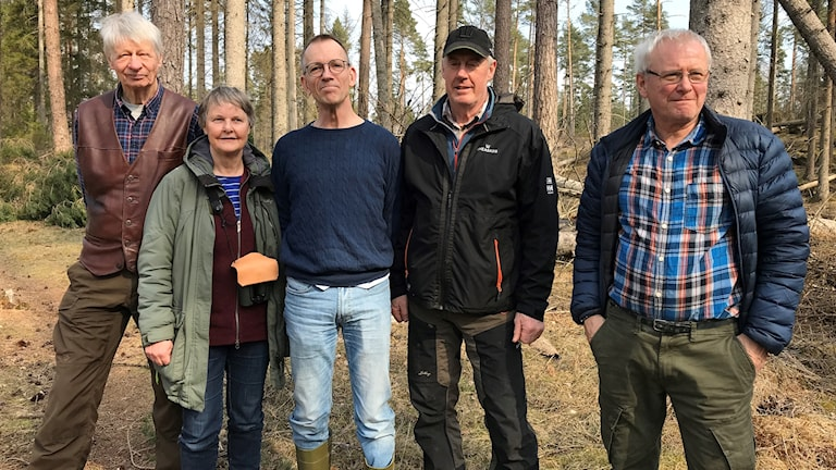 Ingvar Arvidsson, Ann Olsson, Peter Bergman, Thomas Svensson och Thomas Ögren på Hunneberg.