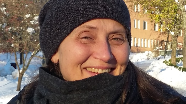 Susanne Skog, ljudkonstnär och fågelskådare.