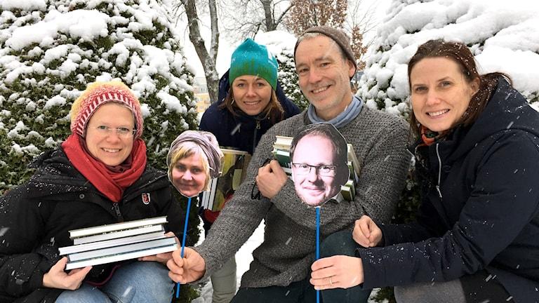 Lisa Henkow, Jenny Berntson Djurvall, Mats Ottosson och Helena Söderlundh, plus infällda Maria Westerberg och Joacim Lindwall, pratar naturböcker i direktsändning lördag 16 december.