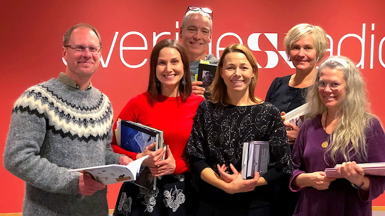 Joacim Lindwall, Helena Söderlundh, Mats Ottosson, Jenny Berntson Djurvall, Maria Westerberg och Lisa Henkow pratar naturböcker i programmet 16 december 2017.
