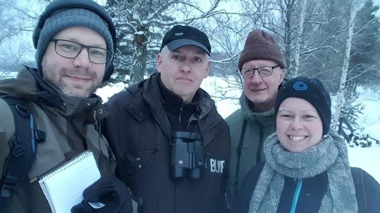 Martin Emtenäs, Rickard Fredriksson, Stig Lindvall och Malin Larsson.