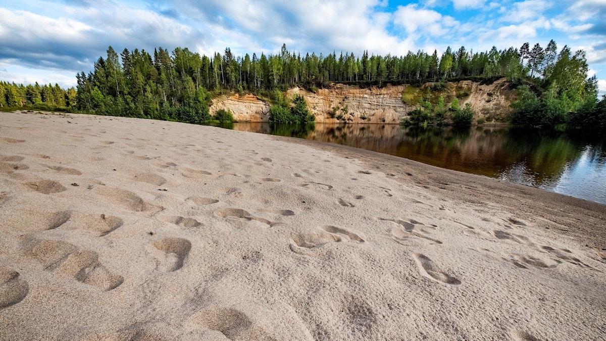 Öreälven - sandstrand mellan Bjurholm och Agnäs