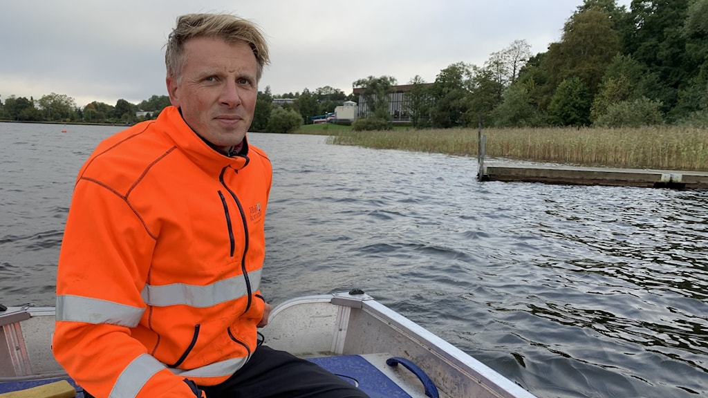 Andreas Hedrén, sjömiljöansvarig Växjö kommun.