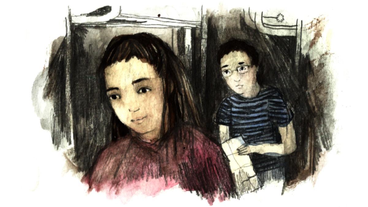 Vanhan miehen salaisuus, osa 2. Piirustus: Matilda Ruta.
