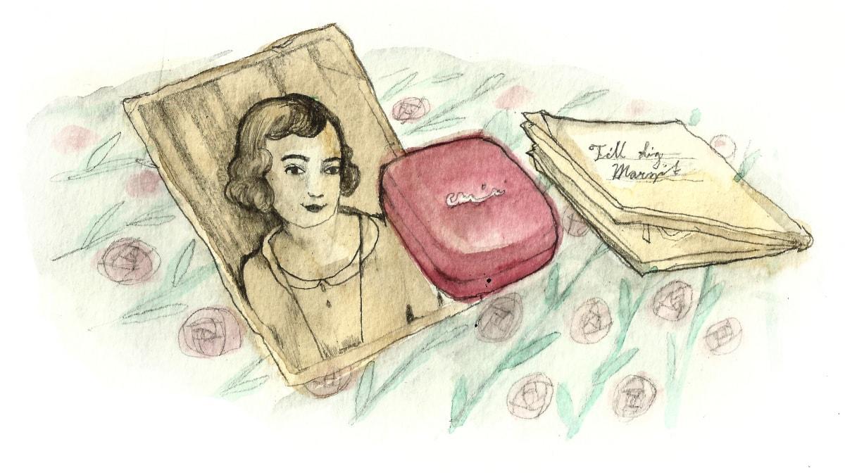 Vanhan miehen salaisuus, osa 5. Piirustus: Matilda Ruta.
