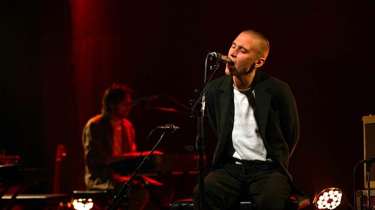 Thomas Stenström under konserten i Musikplats Stockholm.