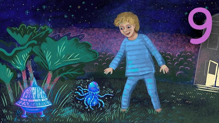 Biggest Bang, del 9: Lukas får besök av Bulgur Bax. Bild: Anna Sandler