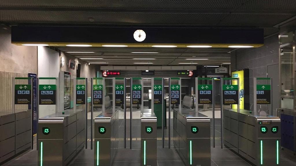Tunnelbanan tom station