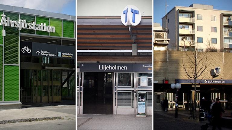 Stadsdelarna Älvsjö, Liljeholmen och Skärholmen
