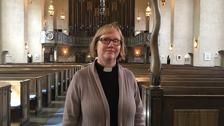 Kristina Engqvist, kyrkoherde på Högalids församling.
