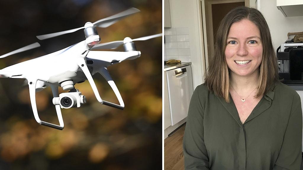 Sofia Schierbeck vill rädda fler liv med hjälp av drönare.