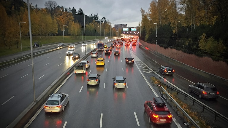 Bilköer i Stockholm.