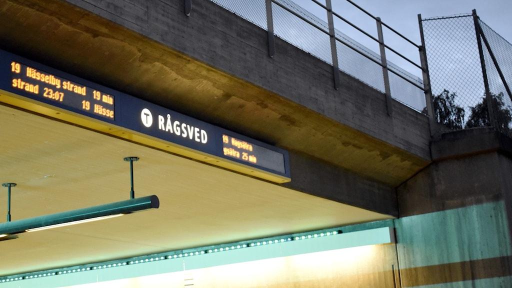 T-banestation i Rågsved