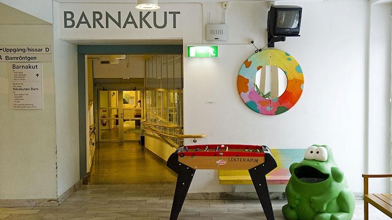 Ingång till barnakuten på Astrid Lindgrens barnsjukhus. Foto: Henrik Montgomery /Scanpix.
