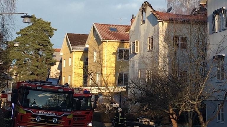 Grannarna intill huset som brann chockades av det de såg.