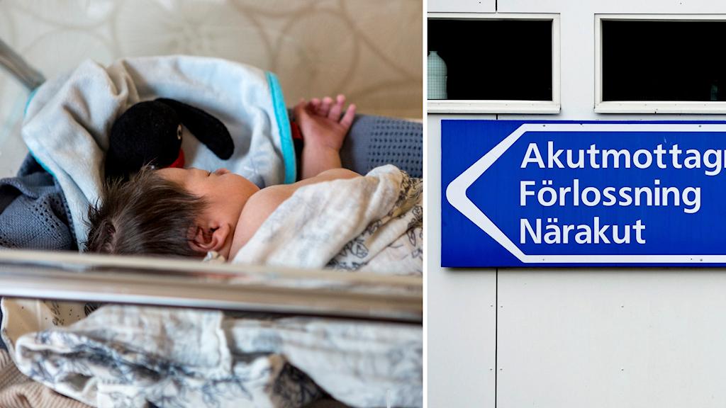 Nyfött barn. Trycket blir hårt på förlossningsklinikerna i sommar