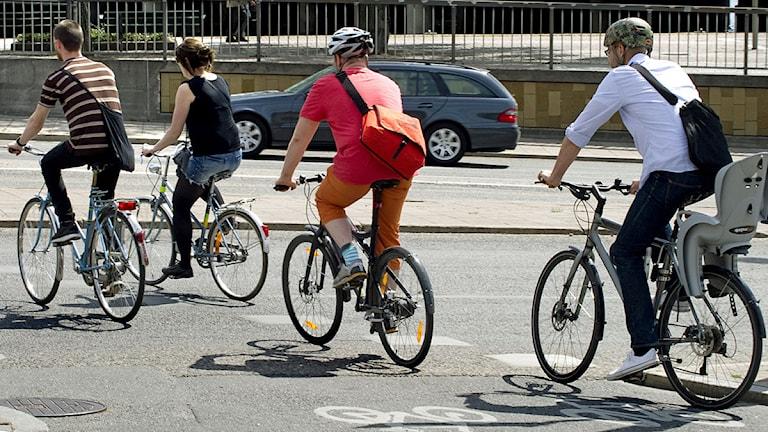 Cyklister i Stockholm. Foto: Claudio Bresciani /Scanpix.