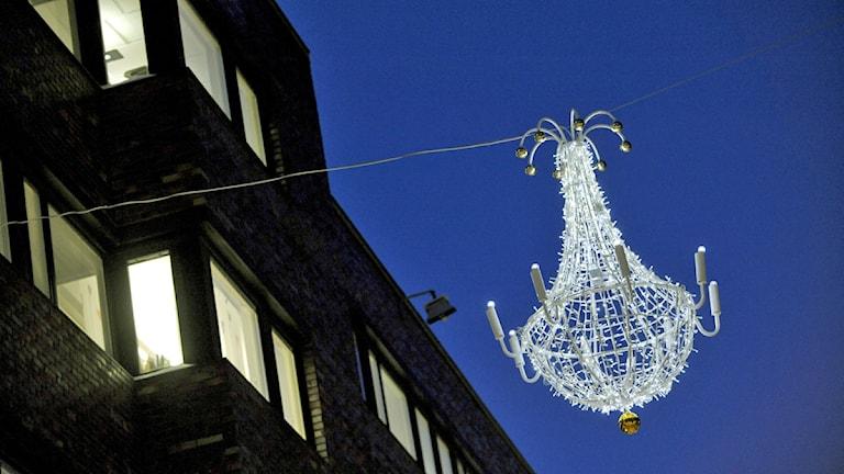 Julbelysning Drottninggatan. Foto: Janerik Henriksson/ Scanpix