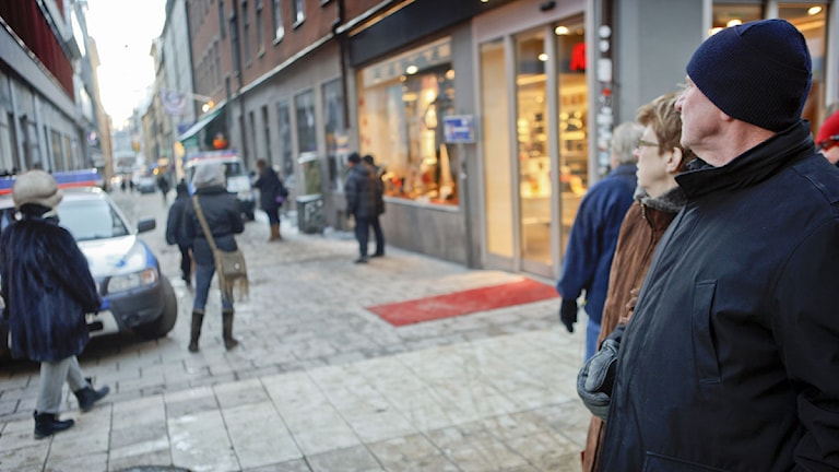 Drottninggatan vid Bryggargatan dagen efter terrorådet i december 2010. Foto: Fredrik Persson/Scanpix.
