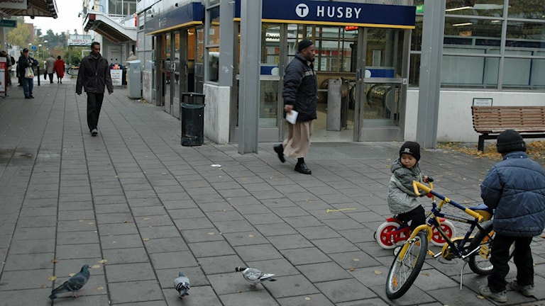 Tunnelbanestationen i Husby. Foto: Scanpix.