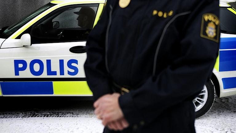 Polisen söker spår (arkivbild).