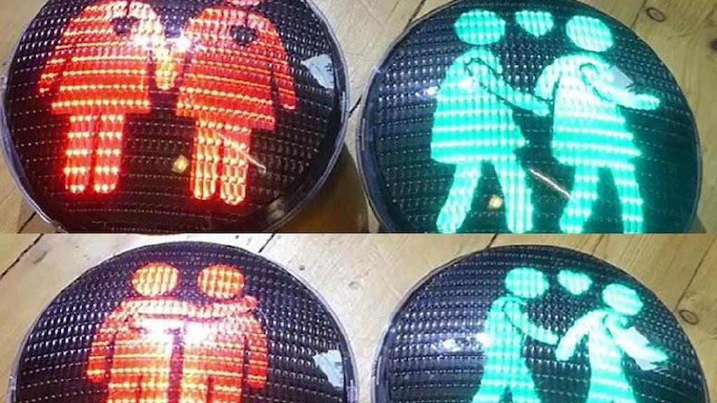 Samkönade trafikljus