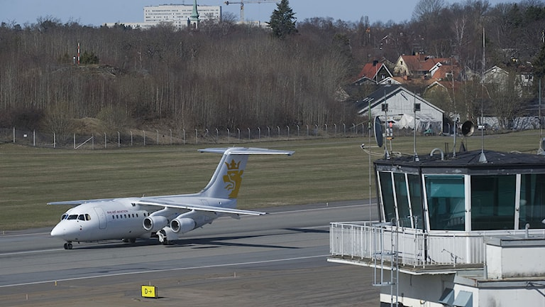 Ett plan på Bromma flygplats. Foto: Leif R Jansson /Scanpix.
