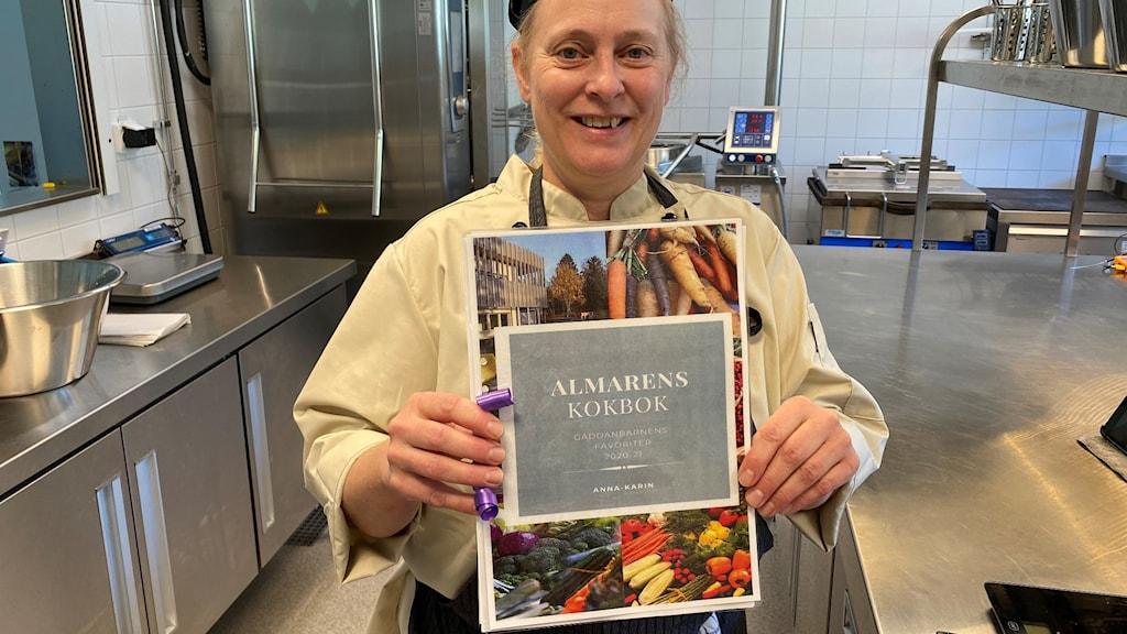 Anna-Karin Ris är kock på Almarevägens förskola i Järfälla kommun.