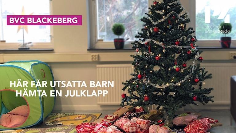 Under december har besökare kunat lämna leksaker som inte längre används, till BVC i Blackeberg. De kommer i sin tur ges till utsatta barn.