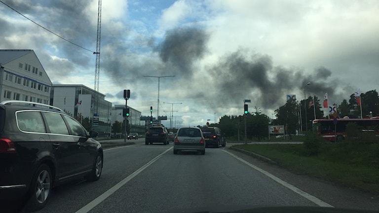 Brand i Häggvik.