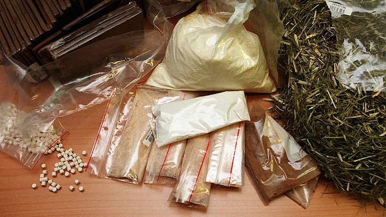 Droger som beslagtagits. Foto: Tobias Röstlund /Scanpix.