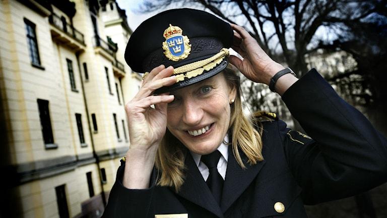 Avgående polismästare Carin Götblad. Foto: Yvonne Åsell/Scanpix.