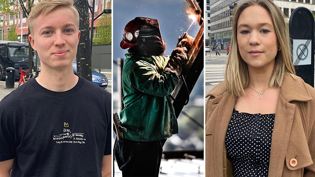 Gustav, 20 år, och Skilla,19 år, vill ha trygga arbetsvillkor.