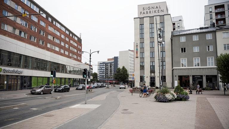 Signalfabriken i Sundbybergs centrum i Stockholm.