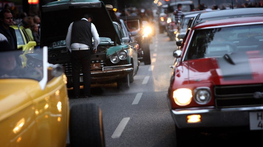 Cruising på Sveavägen
