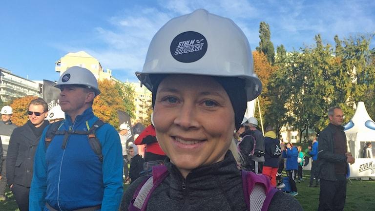 Åsa Hart från Lidingö är klar för start.