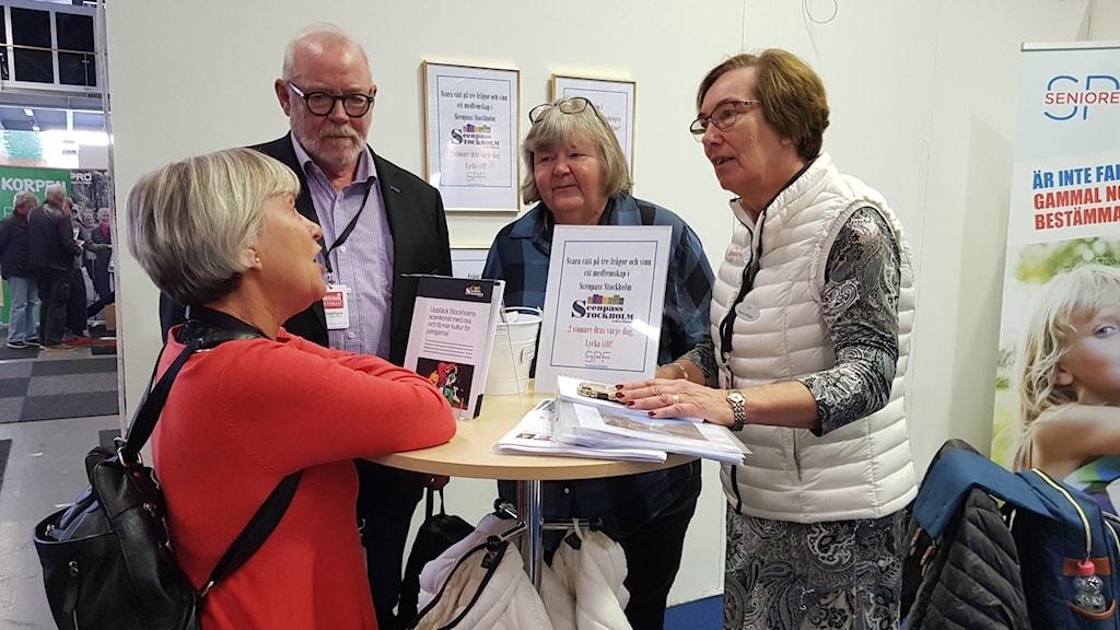 Alf Andersson, PRO, Ritva Elg SPF Seniorerna och Monica Ulfhielm SPF Seniorerna.