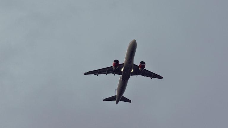 Flygplan ovanför Arlanda