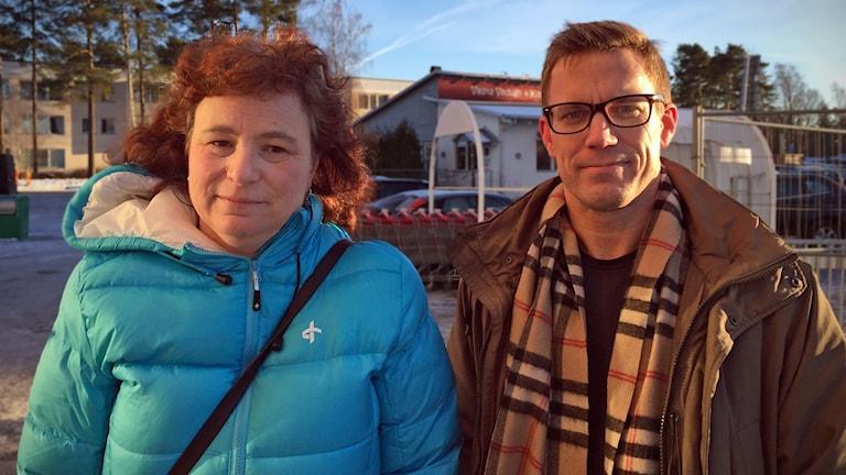 Anne margrethe Larsen och Johan Adler