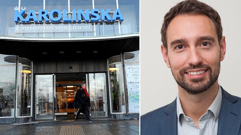 Andreas Ringman Uggla på Karolinska