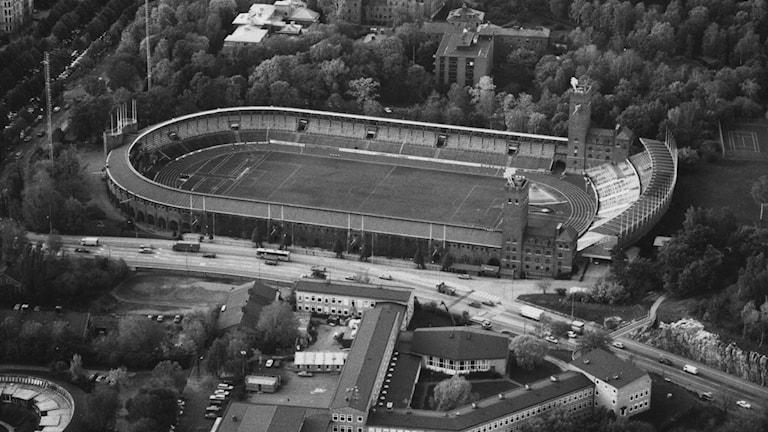 Vy över Stockholms Stadion.