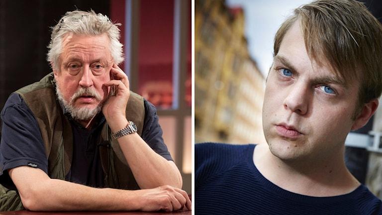 Leif GW Persson och Christoffer Carlsson.