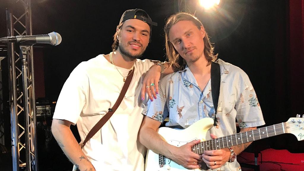 Sebastian Atas och Victor Sjöström i Jubël på Musikplats Stockholm.