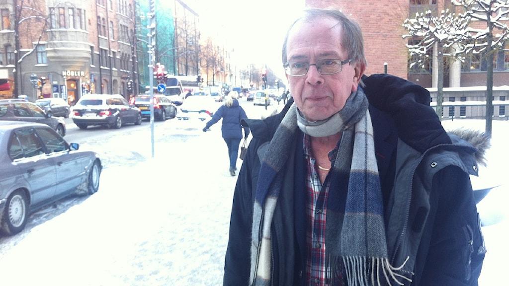 Mats Freij, är pressansvarig på Trafikkontoret i Stockholm. Foto: Robert JOhansson.
