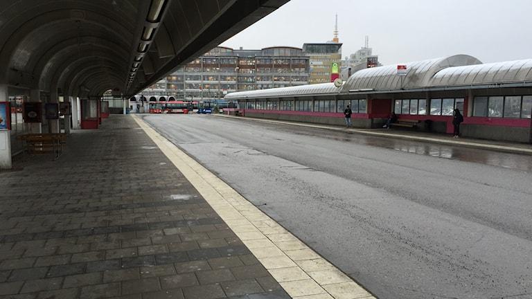 Trist, tristare, bussterminalen vid Gullmarsplan.